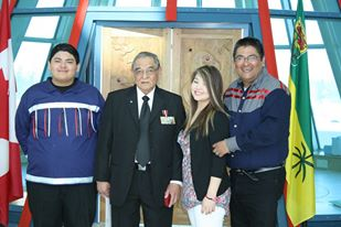 Volunteer family  (From right) Rob Cote, his daughter-Kiauna Cote, his dad -Tony Cote, and his son-Robert Cote.
