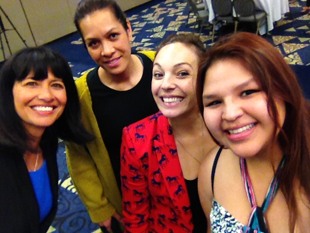 Kristy and friends at the annual conference of the World Indigenous Television Broadcasters Network (WITBN) in Winnipeg in 2013. Kristy volunteered for the conference and is planning to do her INCA Internship in News Zealand