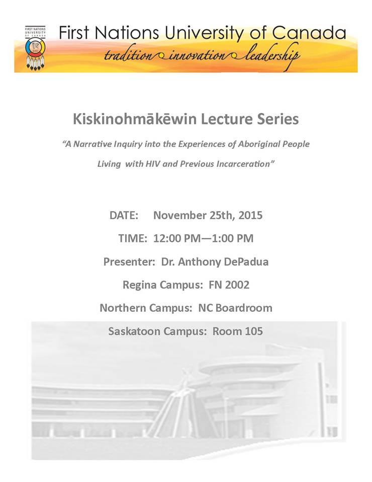 Kiskinohmakewin Lecture Series